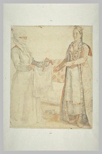 Dame franque de Galata et son esclave