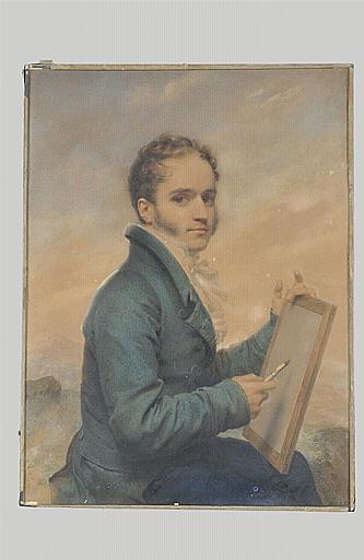 Portrait de l'artiste dessinant
