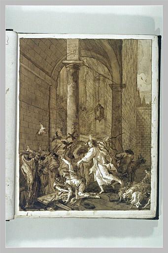 TIEPOLO Domenico : L'Expulsion des marchands du Temple