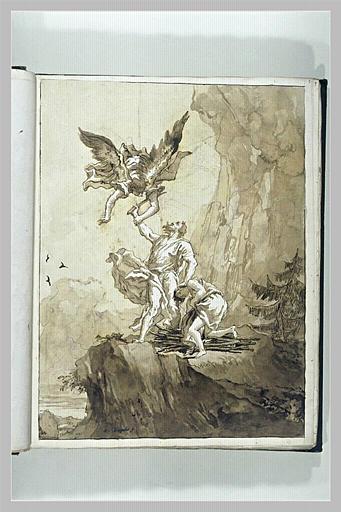 TIEPOLO Domenico : Sacrifice d'Abraham