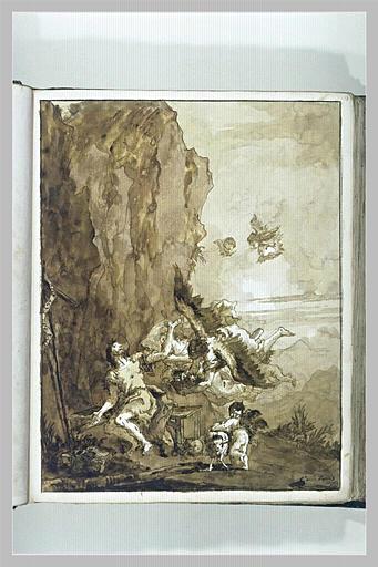 TIEPOLO Domenico : Saint Jean-Baptiste au desert visité par les anges