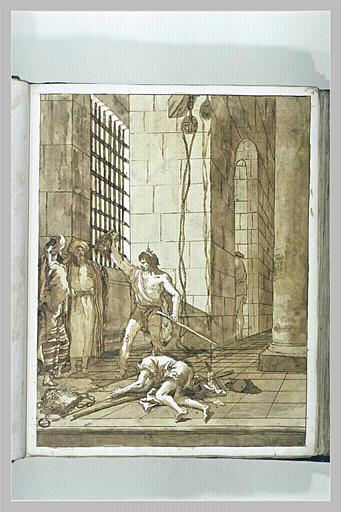 TIEPOLO Domenico : La Décollation de saint Jean-Baptiste