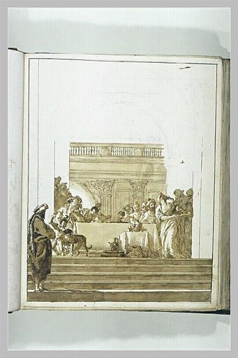 TIEPOLO Domenico : Salomé présentant à Hérode et Hérodiade la tête de saint Jean-Baptiste