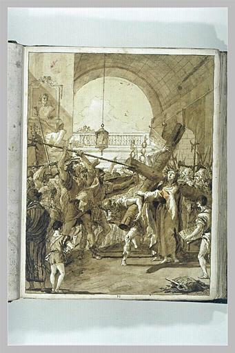 TIEPOLO Domenico : Le Portement de Croix