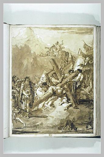 Le Portement de Croix : le Christ tombe pour la deuxième fois_0