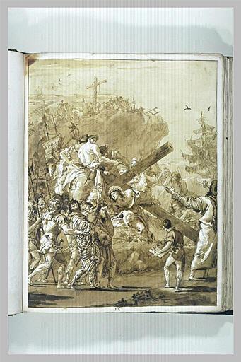 Le Portement de Croix : le Christ tombe pour la troisème fois