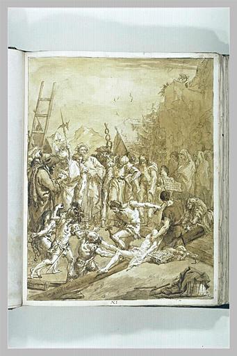 TIEPOLO Domenico : Le Christ cloué sur la Croix