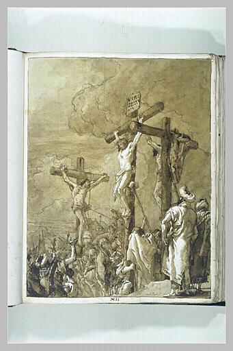 TIEPOLO Domenico : Le Christ en Croix entre les deux larrons