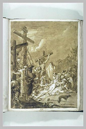 TIEPOLO Domenico : Déposition de Croix ou lamentation