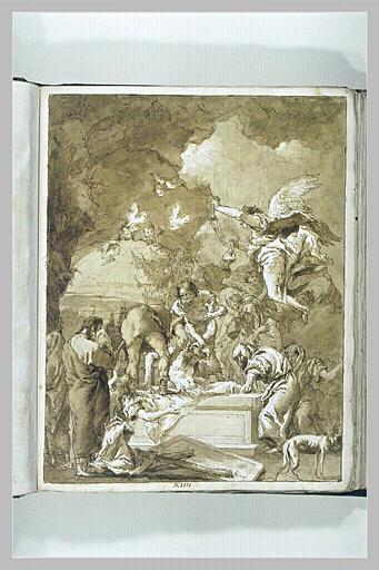 TIEPOLO Domenico : Le Christ mis au tombeau