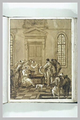 TIEPOLO Domenico : Saint Marc écrivant d'après les instructions de saint Pierre