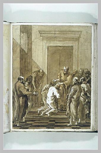 TIEPOLO Domenico : Saint Pierre instituant les premiers diacres (?)