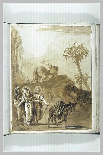 Joachim accompagnant la Vierge et Joseph