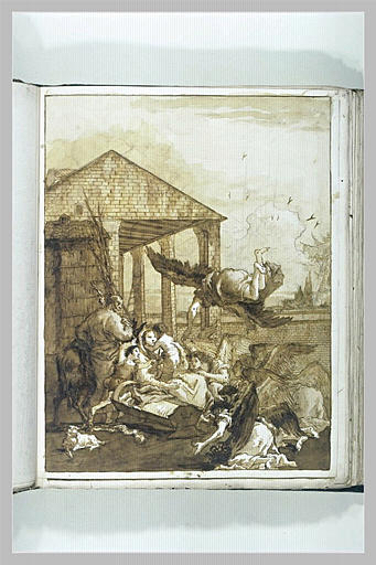 TIEPOLO Domenico : L'Adoration des anges