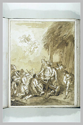 TIEPOLO Domenico : L'Adoration des bergers