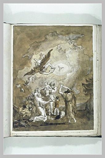 Sainte Famille avec le petit saint Jean, Elisabeth et Zacharie