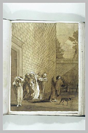 Les Saintes Femmes et saint Jean reviennent du tombeau