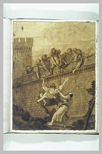 Saint Paul s'évadant de Damas dans un panier_0