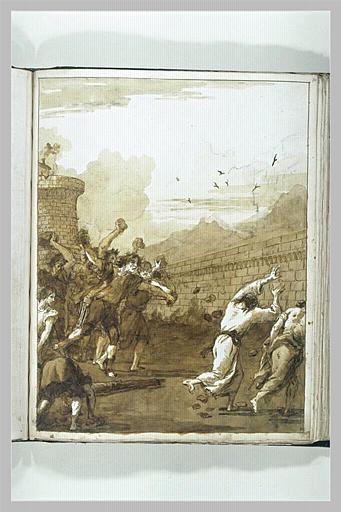 TIEPOLO Domenico : Saint Paul et saint Barnabé lapidés à Lystra