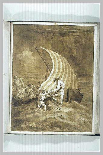 TIEPOLO Domenico : Jésus marchant sur les eaux