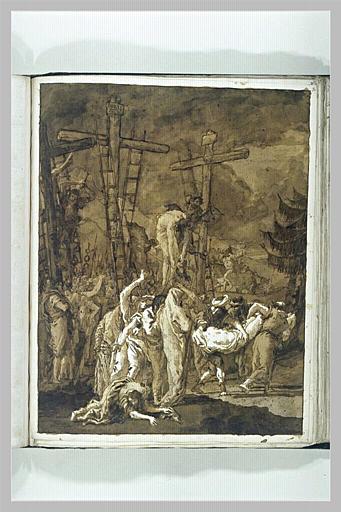 TIEPOLO Domenico : Le Christ porté au Tombeau