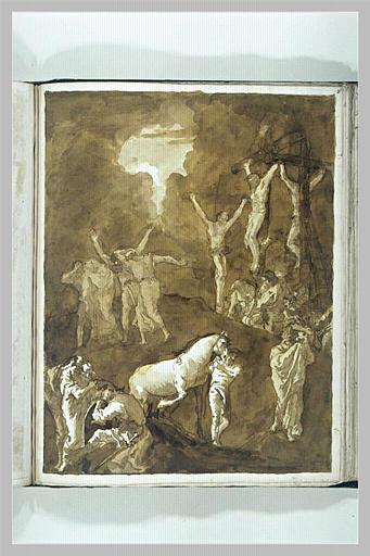 TIEPOLO Domenico : Le Christ en Croix entre les larrons