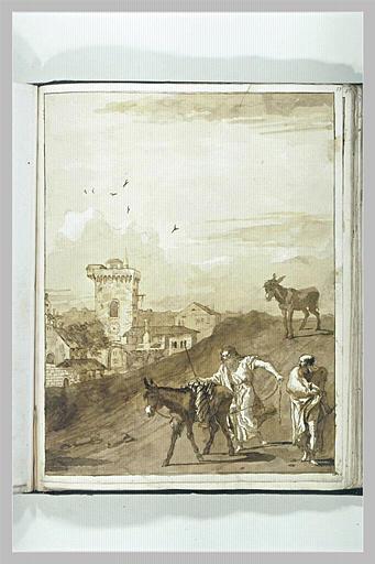 TIEPOLO Domenico : Deux apôtres avec l'ânesse et l'ânon
