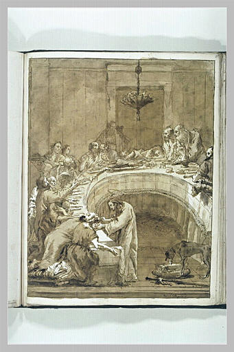 TIEPOLO Domenico : La Communion des apôtres