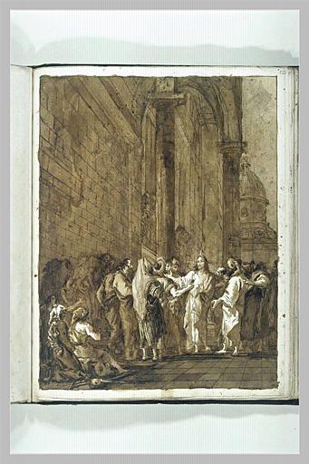 TIEPOLO Domenico : Le Tribut de César