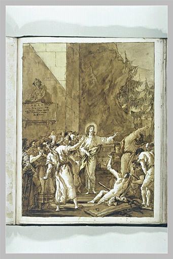 TIEPOLO Domenico : La Résurrection de Lazare
