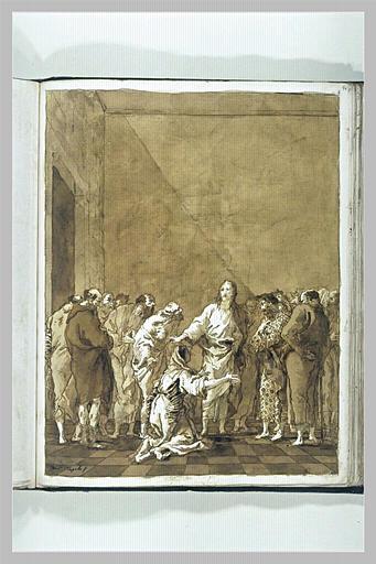TIEPOLO Domenico : Le Christ et la femme adultère
