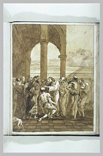 Le Christ guerissant un aveugle