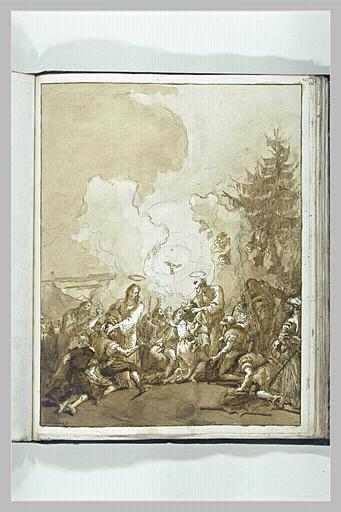 TIEPOLO Domenico : Saint Pierre et saint Jean guérissant