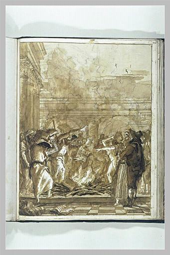 TIEPOLO Domenico : Saint Paul à Ephèse : les magiciens brulant leurs livres