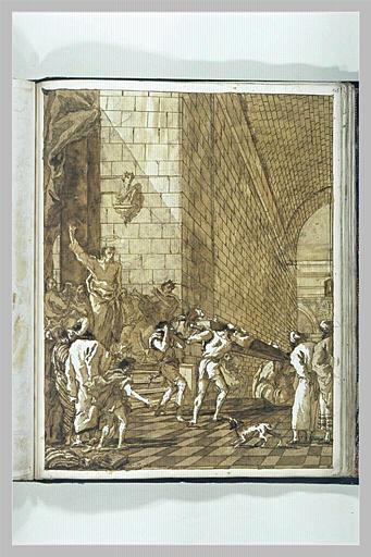 Scène de la vie de saint Pierre : la mort de Saphira