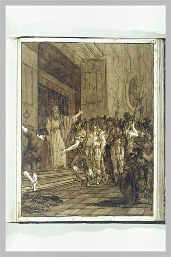 TIEPOLO Domenico : Saint Paul et saint Barnabé sortant de prison (?)