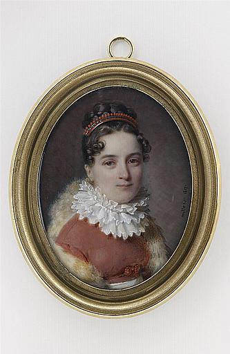 MILLET Frédéric : Portrait de Mme Frédéric Millet, fondatrice des salles d'asile en France