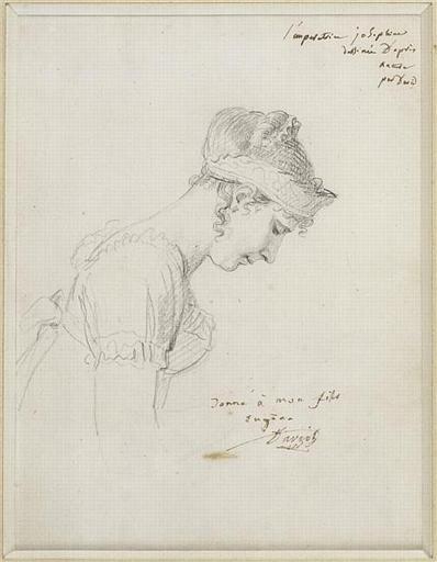 Le portrait de l'impératrice ; Profil de l'Impératrice Joséphine le Jour de son couronnement à Notre Dame de Paris le 2 décembre 1804 - Etude préparatoire (autre titre)