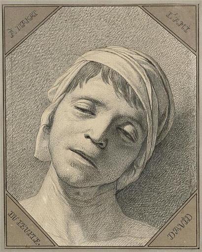Marat mort ; Etude d'après nature de la tête de Jean-Paul Marat assassiné 13 juillet 1793 (autre titre)
