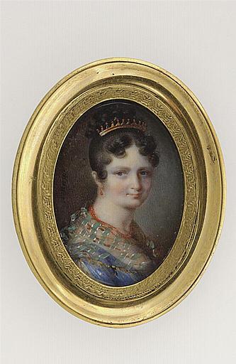 MUNERET Jean Désiré : Portrait de femme au diadème