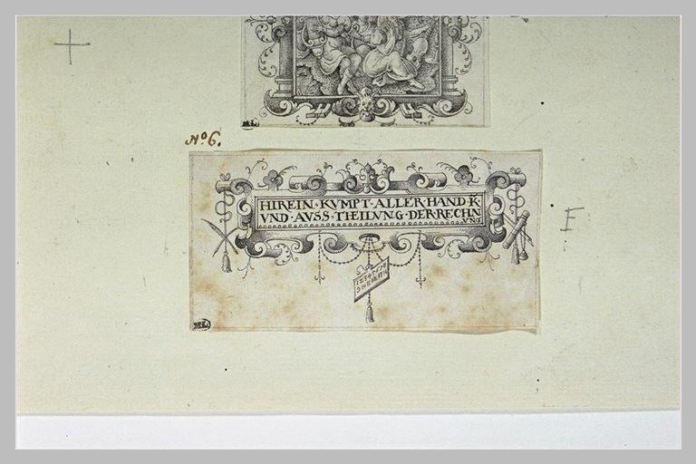 Cartouche avec une inscription