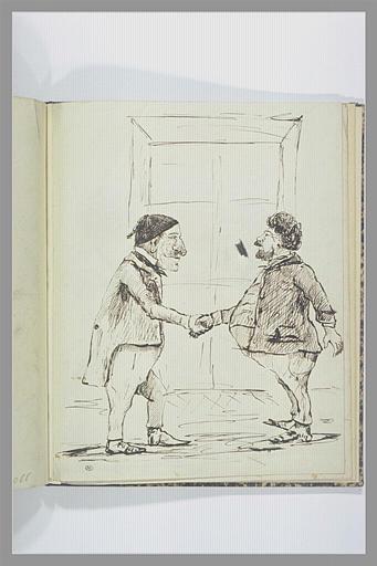 VERNET Carle : Deux hommes se serrant la main