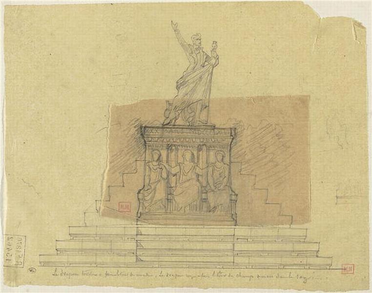 PROJET POUR UN MONUMENT A LAMARTINE