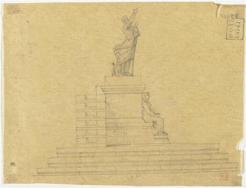 PROJET POUR UN MONUMENT A LAMARTINE (PROFIL ET PLAN)