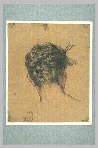 Tête de femme, vue de dos