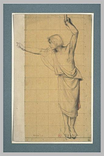 Jeune homme, vêtu d'une tunique, debout, se tournant vers la gauche_0