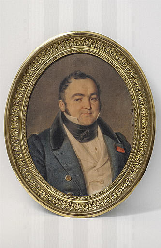 Portrait d'homme, le visage rasé sauf les favoris