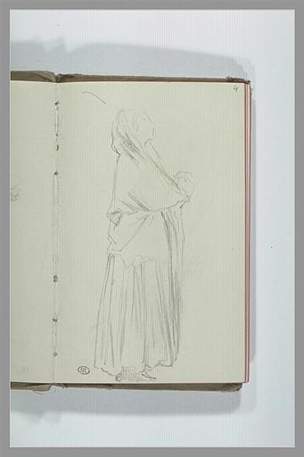 CHAPU Henri Michel Antoine : Femme debout, tournée vers la droite