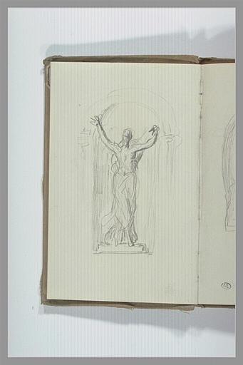 CHAPU Henri Michel Antoine : Projet pour une statue dans une niche