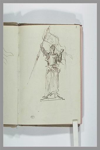 Etude pour une statue de Jeanne d'Arc